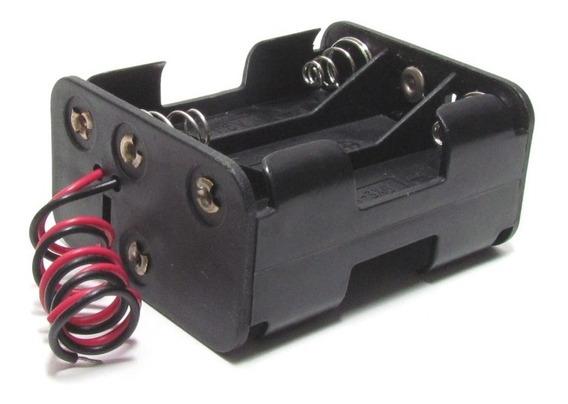 Adaptador / Suporte 6 Pilhas Aa Com Cabo P/ Arduino / Pic