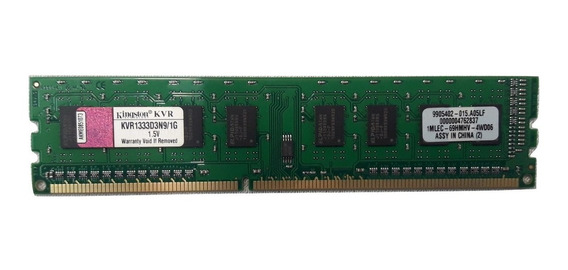 Memoria Ddr3 Kingston 1gb 1333mhz Pc3-10600 8 Chips 3