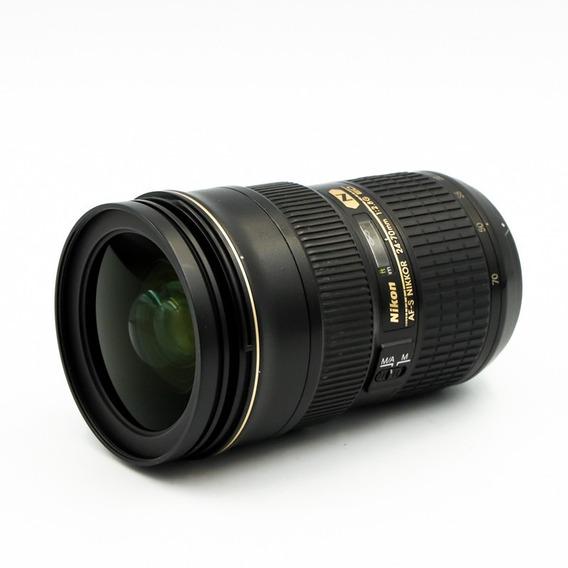 Lente Objetiva Nikon 24-70 F2.8 Usada Está Igual A Nova