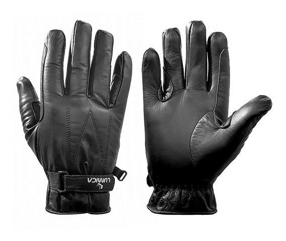 Luva Proteção Mãos Moto Motociclista Masc Couro Lumica 203