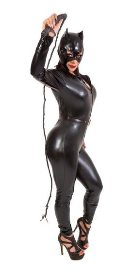 Disfraz De Gatubela Sexy Charol Para Dama Halloween Body