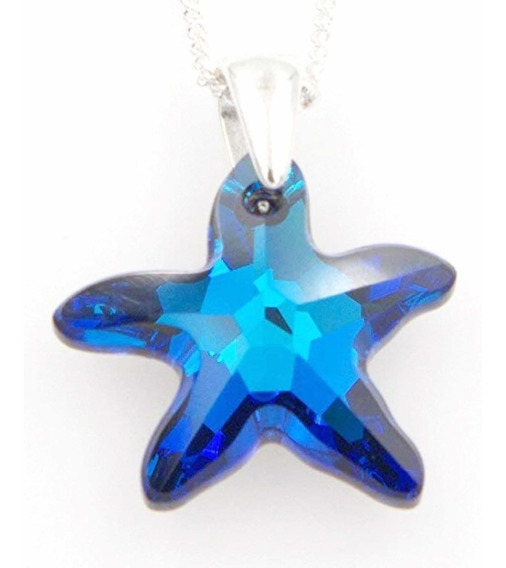 Estrella De Mar Swarovski + Cadena De Plata 925