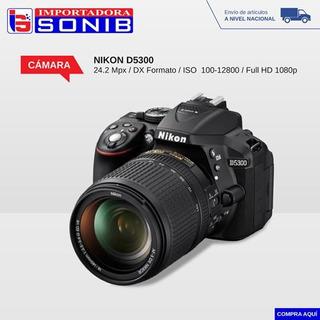 Camara Nikon Profesional D5300 / 24.2 Mpx Lente 18-55