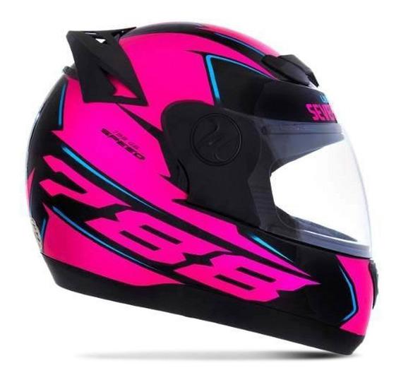 Capacete Evolution Feminino Fechado Pink G6 Speed Pro Tork