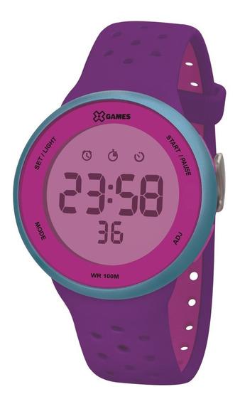 Relógio X-games Feminino Digital Xfppd075 Rxux Roxo