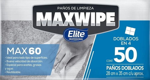 Paños Reutilizables Maxwipe 60 Interc X 50 Hojas 6288 Elite