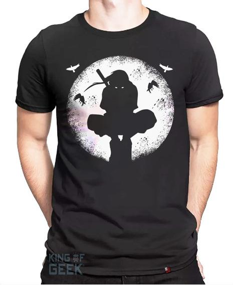 Camiseta Itachi Uchiha Blusa Naruto Anime Clássico Geek