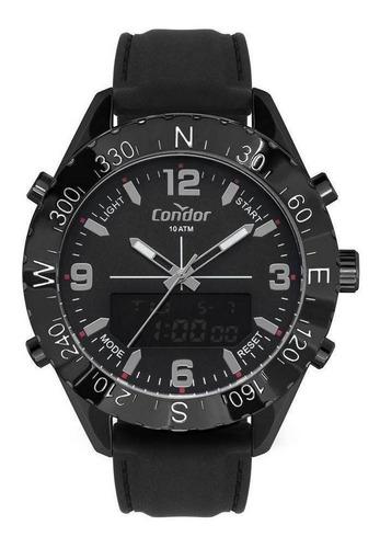 Relógio Condor Preto Anadigi Preto Original Com Nota Fiscal