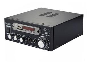 Amplificador Potencia 220v 12v 30w Con Entradas Micrófono