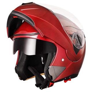 Yescom Full Face Flip Up Casco De Moto Modular Dot Aprobado