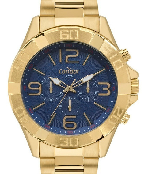 Relógio Condor Masculino Dourado Civic - Covd54bd/4a