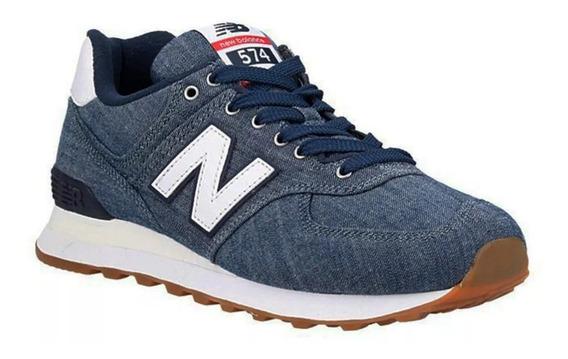 Zapatillas New Balance 574 Hombre - Azul Jeans