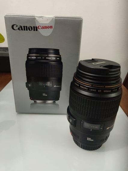 Lente Canon Ef 100mm 2.8 Macro
