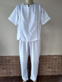 Roupa Masculina Branca Calça E Camisa Branca Detalhes