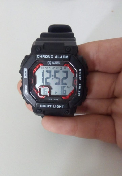 Relógio Digital X Games Masculino Preto E Vermelho