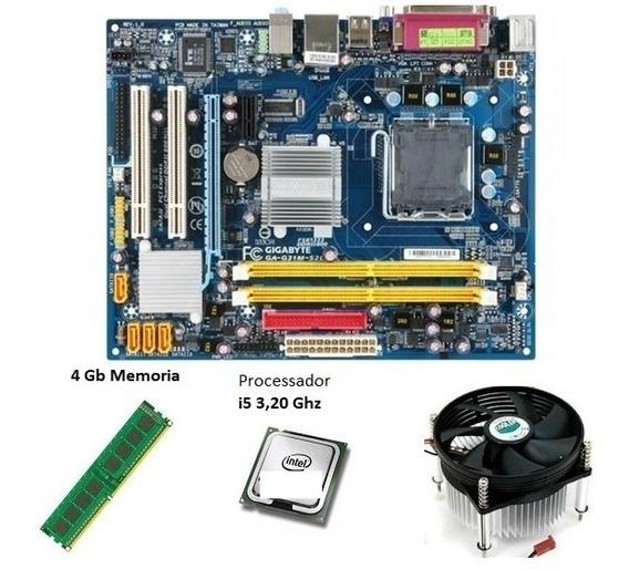Kit Upgrade Placa Mãe + Processador I5 3.20ghz + 4gb Memoria