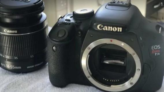 Câmera Fotográfica Canon T3i Com Lente 18-55mm 3.5-5.6