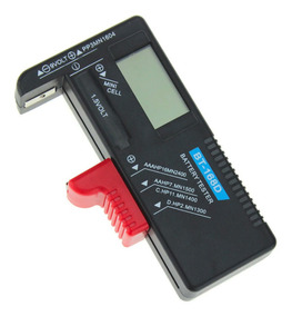 Testador Medidor De Pilhas Aa Aaa Bateria 9v Modelo Digital
