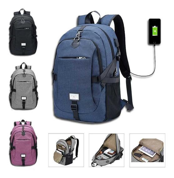 Mochila Backpack Antirrobo Impermeable Puerto Usb