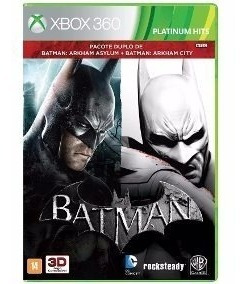 Pacote Duplo Batman Xbox 360 Ntsc Midia Fisica Original