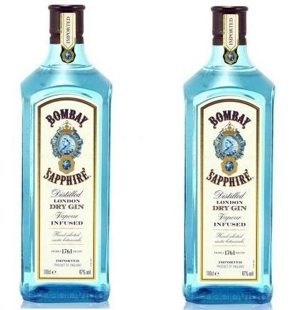 Pack 2 Unidades Gin Bombay Sapphire 1 Litro 100% Original