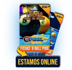 Fichas 8 Ball Pool Miniclip 8 Ball Pool R$40