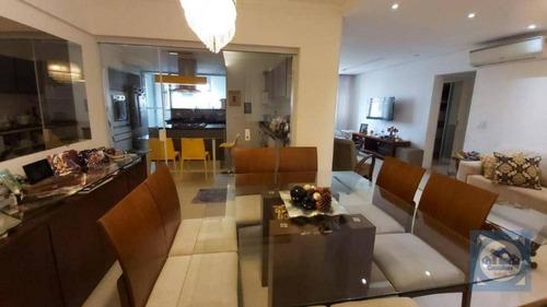 Apartamento Com 2 Dormitórios À Venda, 117 M² Por R$ 795.000,00 - Boqueirão - Santos/sp - Ap5825