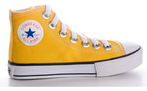 Tênis Converse All Star Cano Alto Amarelo Infantil
