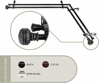 Cortinas Exclusivas Para El Hogar, Con Varilla Doble Para