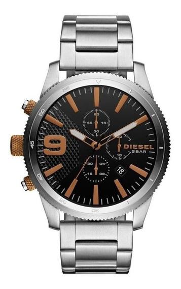 Relógio Diesel Masculino Numero Bronze Dz4457/1pn