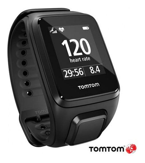 Relógio Gps Tomtom Runner Spark 3 Gps Sem Cardio Large Preto