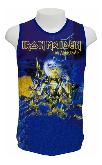 Camisa Iron Maiden - Live After Death - Regata