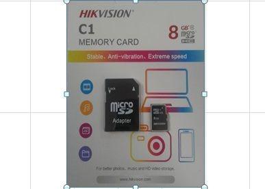 Cartão Mem Micro Sd Hikvision 8gb + 1 Adpt. Class 10