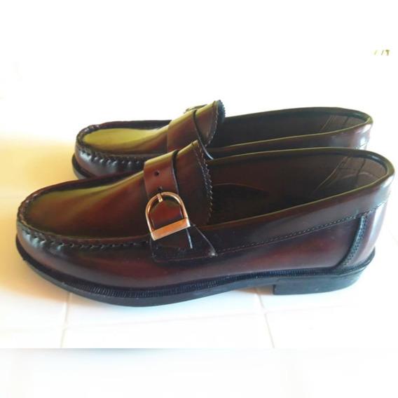 Zapato De Hombre Mocasin 100% Cuero , Todo Cosido