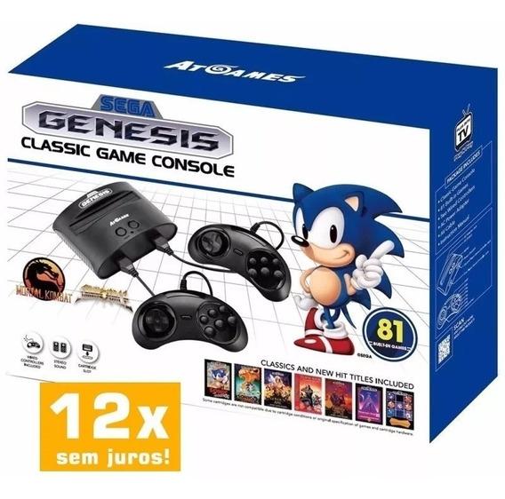 Sega Genesis Classic Game Mega Drive C/ 81 Jogos P. Entrega