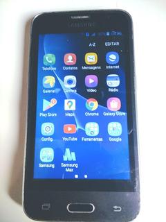 Celular Samsung Calaxy J1 2016 Smart Com Defeito E Trincado