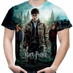Camiseta Filme Harry Potter Masculina Estampa Total Md03