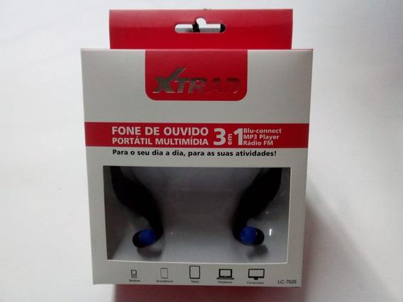 Fone De Ouvido Bluetooth Corrida Cartão Sd Rádio Lc-702s