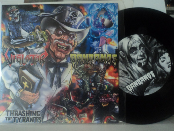 Lp-vinil:ep:violator+bandanos:thrashing The Tyrants:metal