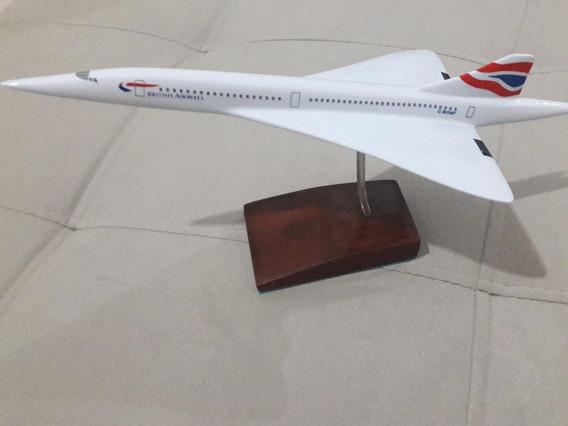 Miniatura De Avião Em Resina Concorde British Airwais -p