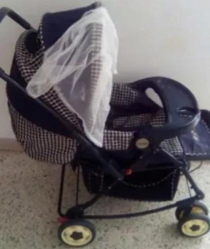 Coche Para Bebé Master Kid 4posiciones Cesta Mosquitero