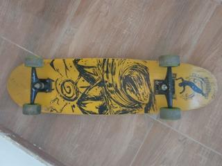Skate Longboard Flying