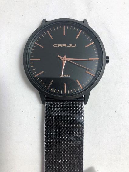 Relógio Pulso Masc Ultra Fino Crrju