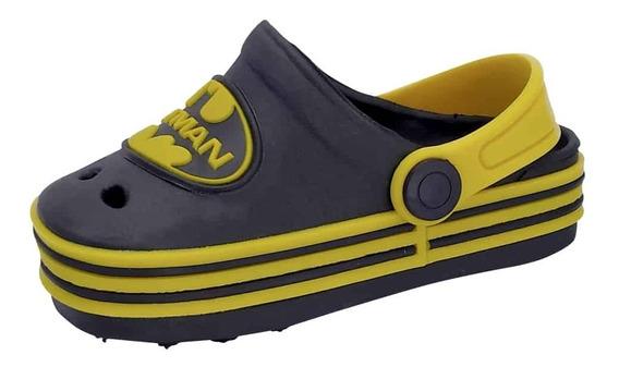 Babuche Infantil Masculino Chinelo Crocs Batman