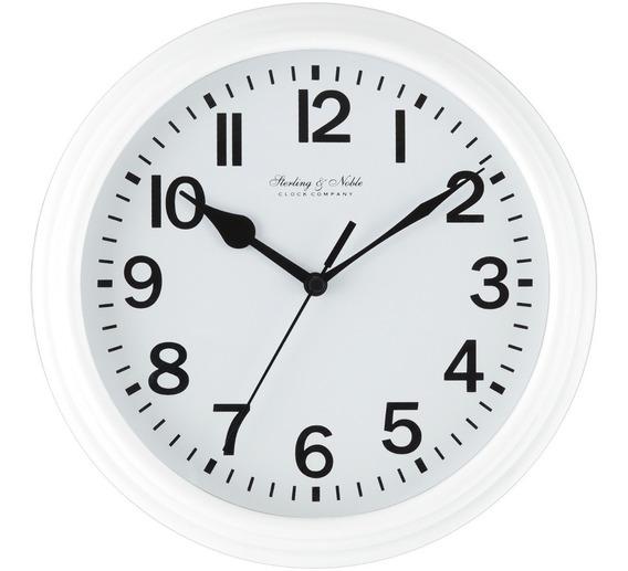 Reloj De Pared Minimalista En Color Blanco Oferta