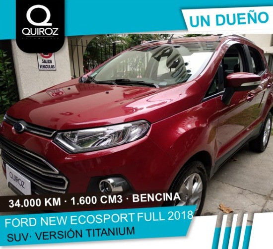 Ford New Ecosport Titanium Full Mt Año 2018