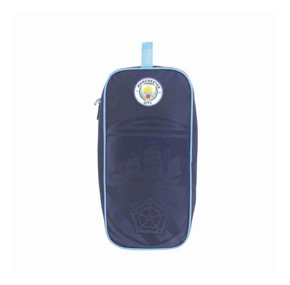 Porta Tenis Com 2 Divisoes Manchester City Produto Oficial