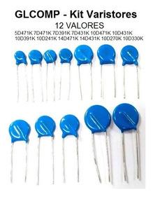 Varistor Kit Com 120 Peças 12 Valores 10 De Cada - Carta