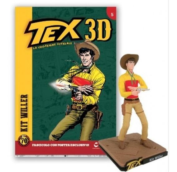 Colecao Tex 3d - Miniatura 5 Kit Willer - Bonellihq H19