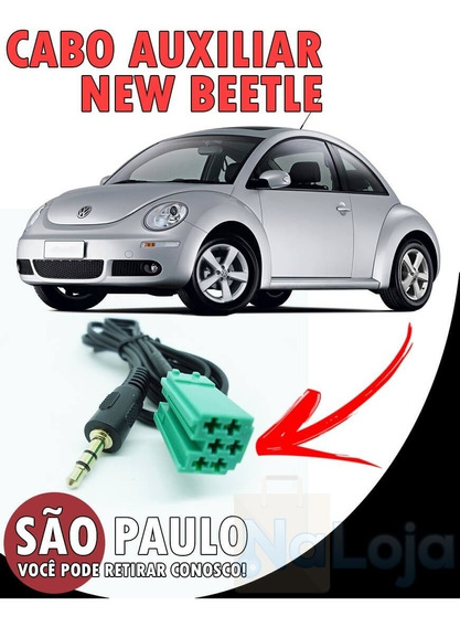 Cabo Auxiliar Som New Beetle + Bluetooth